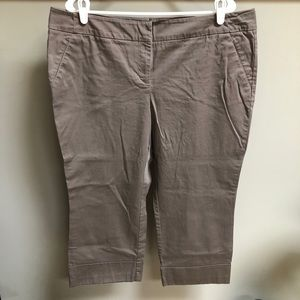 New York & Company Brown crop pants Sz 18